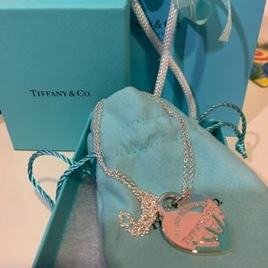 💙Brand New Tiffany Color Splash Heart Necklace💙
